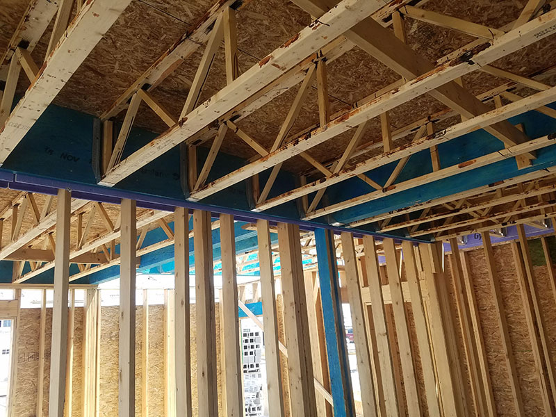Open Joist floor in a 36-Unit Multi-Family Dwelling in Tonawonda, NY