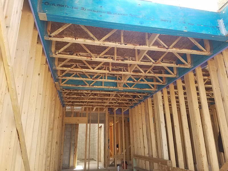 Open Joist floor in a 36-Unit Multi-Family Dwelling in Tonawonda, NY