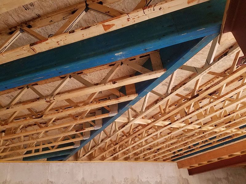 Open Joist floor in a Single Family Dwelling in Clarence, NY