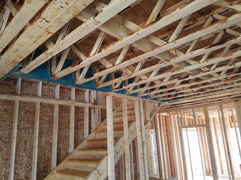 Open Joist floor in a Single Family Dwelling in Erie, PA
