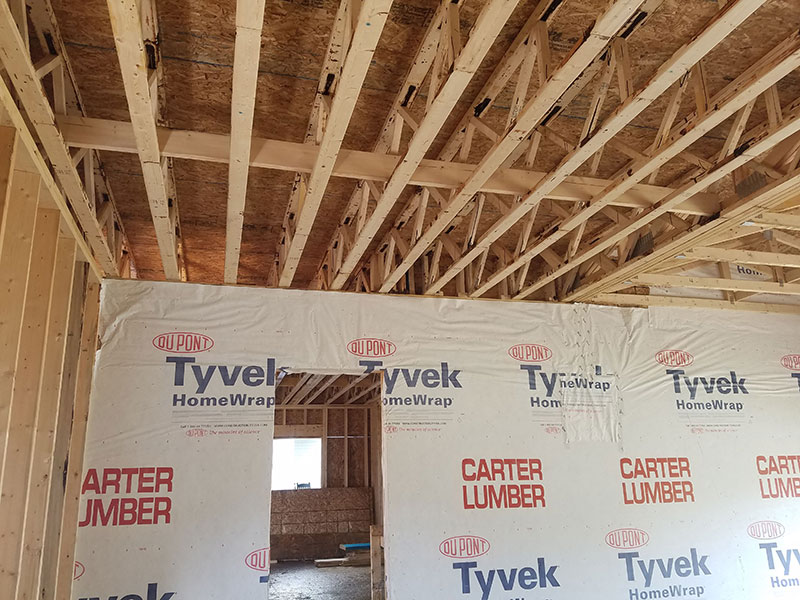 Open Joist floor in a Single Family Dwelling in Erie, PA