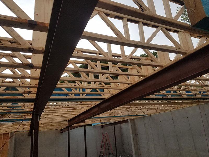 Open Joist floor in a Single Family Dwelling in Lewiston, NY